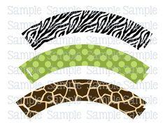 wrappers cupcakes safari - Buscar con Google