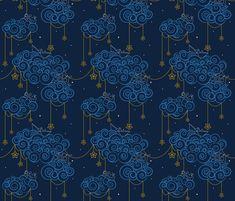 Nautical Skies fabric by swissette on Spoonflower - custom fabric