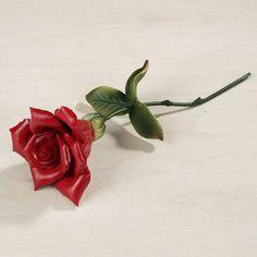 Angelica Long Stemmed Porcelain Rose