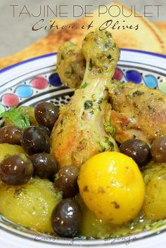 Tajine poulet aux olives et citron confit facile
