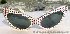 Vintage Serengeti, French Polka Dot Sunglasses