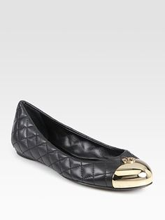 Tory Burch - Kaitlin Quilted Leather Ballet Flats - Saks.com