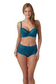 Panache Olivia Balconnet Bra in Deep Jade. Sizes 30-38 D-K. #ddplus #ggplus #jjplus #smallbandsizes