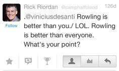 Riordan is right! No offense...
