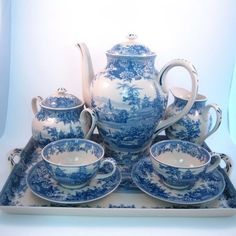 teeatime.quenalbertini: Blue and white tea set