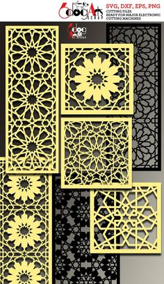 This 27 Arabesque Pattern Panel Templates Digital Stencils Cut Svg is just one of the custom, handmade pieces you'll find in our craft supplies & tools shops. Islamic Art Pattern, Arabic Pattern, Pattern Art, Room Divider Screen, Room Screen, Room Dividers, Motifs Islamiques, Motif Arabesque, Stencils