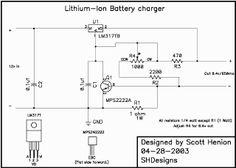 SHDesigns - Lithium Ion Charger
