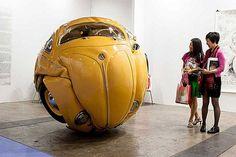 Compressed Beetle Sculpture2