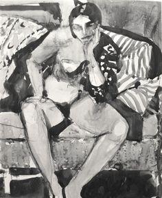 Richard Diebenkorn's Ink-Wash Drawings – Drawing OWU Richard Diebenkorn, Figure Painting, Figure Drawing, Painting & Drawing, Camille Pissarro, Bay Area Figurative Movement, Robert Motherwell, Joan Mitchell, Ink Wash