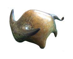 Vadim Tuzov Bronze Sculpture of a Bull Bronze Sculpture, Fig, Pottery, Ceramics, Cool Stuff, Gallery, Illustration, Handmade, Animals