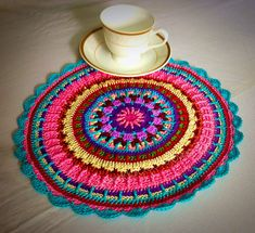 Crochet placemat Finished product Dinning mats  by CROCHETbyNeelam
