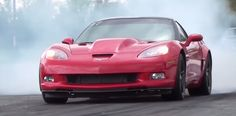 Crowd pleasing supercharged C6 Corvette Z06 looks and sounds all business