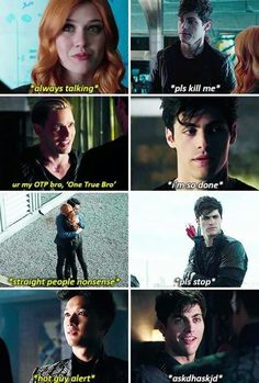 Alec and Clary and Magnus and Jace