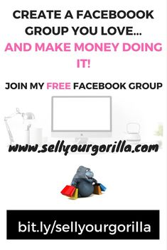 Finally a FREE Facebook group where you can join other entrepreneurs how to create a Facebook group they love...and make money doing it!!  bit.ly/sellyourgorilla    #sellyourgorilla Free Facebook, How To Make Money, Join, Engagement, Group, Create, Tips, Engagements, Hacks