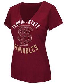 NCAA Florida State Seminoles Women's Strike Zone V-Neck