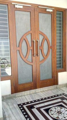 House Main Door Design, Single Door Design, Front Door Design Wood, Room Door Design, Wooden Door Design, Door Design Interior, House Design, Modern Wooden Doors, Steel Security Doors