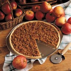 Apple Crisp Pizza (try with strawberries and rhubarb?)