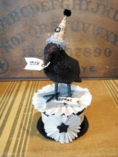 sweet little sparkly crow!