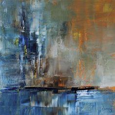 Mooring 2017-10-11 #1066  Acrylic on board, 15x15 cm Ulla Maria Johanson @umj.art