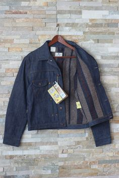 New Wrangler Blue Bell 1940 s Vintage Dry/Raw Denim Western Jacket Lined L Large