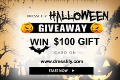 http://rusudiana.com/haloween-giveaway-dresslily/ Win a $100 gift card on my blog from DressLily.com now ! Hurry ! Competiton is closing on 18/10/2016.