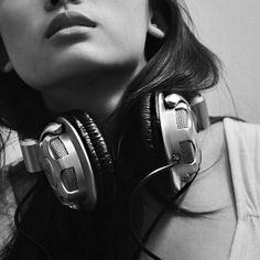 Headphones picture. #music #headphones #cans http://www.pinterest.com/TheHitman14/headphones-microphones-%2B/