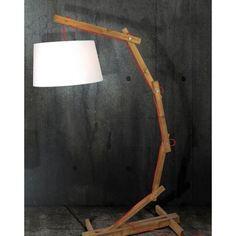 Επιδαπέδιο φωτιστικό ZINA ξύλινο με καπέλο λευκό HL-460FL Decor, Table, Floor Lamp, Lamp, Flooring, Lighting, Home Decor
