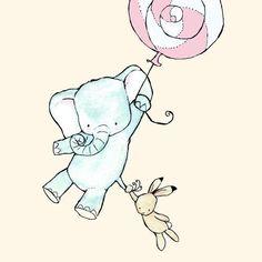 Elephant print for nursery