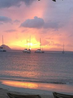 Words can't even explain this beautiful sunset in Cane Garden Bay, British Virgin Islands.