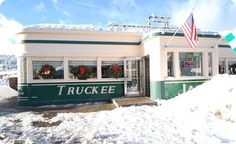 Awesome list for Truckee Dining! Truckee (Lake Tahoe) recommended restaurants - Bar of America, Jax's Diner, Full Belly Deli, & Cottonwood. Truckee California, Northern California, Nevada, Colorado Lakes, American Diner, Happy Birthday Jesus, Mountain Living, Diners, Lake Tahoe