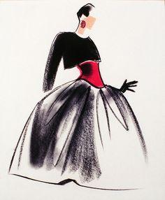 Fashion Illustration by Mats Gustafson (Swedish, 1951)