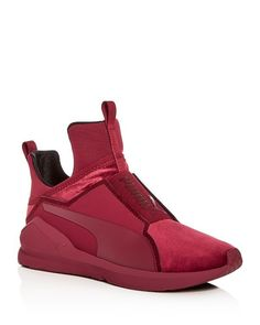 Puma Women's Fierce Velvet Slip-On Sneakers