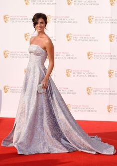 Lucy Mecklenburgh teams her fairytale dress with a beautiful sparkly clutch bag - Discover more TV BAFTAs red carpet trends