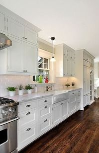 countertops and floor color
