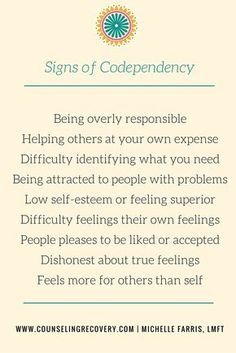 These are common characteristics of codependency that cause resentment and frustration in relationships and low self-esteem. 12 step recovery begins when we acknowledge behaviors that hurt us and the ones we love.