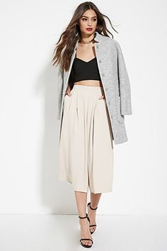Pleated-Front Culottes