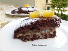 #Torta al #cioccolato con #crema all' #arancia #vegan
