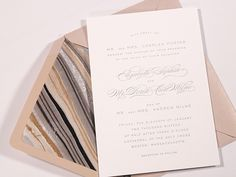 A pretty envelope liner instantly elevates your wedding invitations. Best of all—you can do-it-yourself in five easy steps!