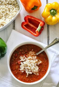 Stuffed Pepper Soup | Skinnytaste