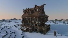 The Lonely Snowshoe Taproom & Hostelry Minecraft Project - world save