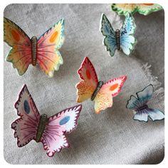 Hand painted sugar Butterflies from abigail*ryan