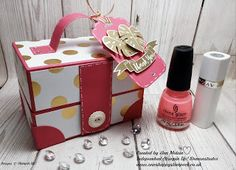 Ann's Happy Stampers: Gorgeous Ladies Style Vanity/Make-up Case using St...