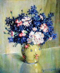 Flowers in a Vase - Agnes Noyes Goodsir Australian,1864-1939 Oil on canvas, 46 x 38 cm