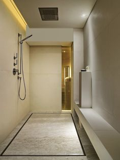 You could do yoga while you bathe in this large open shower! #pinterest