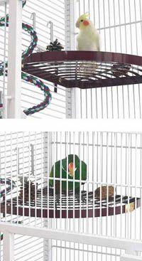 BirdCagePortal.com - Pet Bird Supplies, Parrot Supplies, Cages & Bird Products - 170500050 - Bird Rest Shelf (6 available colors)