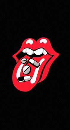 Rolling Stones Tongue Pills Drugs iPhone 6 Plus HD Wallpaper