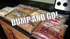 CROCKPOT FREEZER MEALS / PREP WITH ME