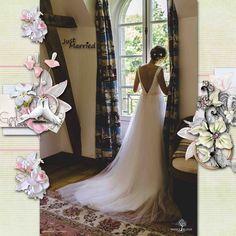 "kit""our wonderful weddings day"" de Wilma4ever; WA et template ""Blessings"" de Chrstaly scrap; photo personnelle"