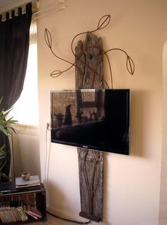 What a cool way to mount a TV!