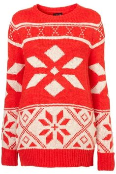 Knitted Snowflake Jumper - StyleSays